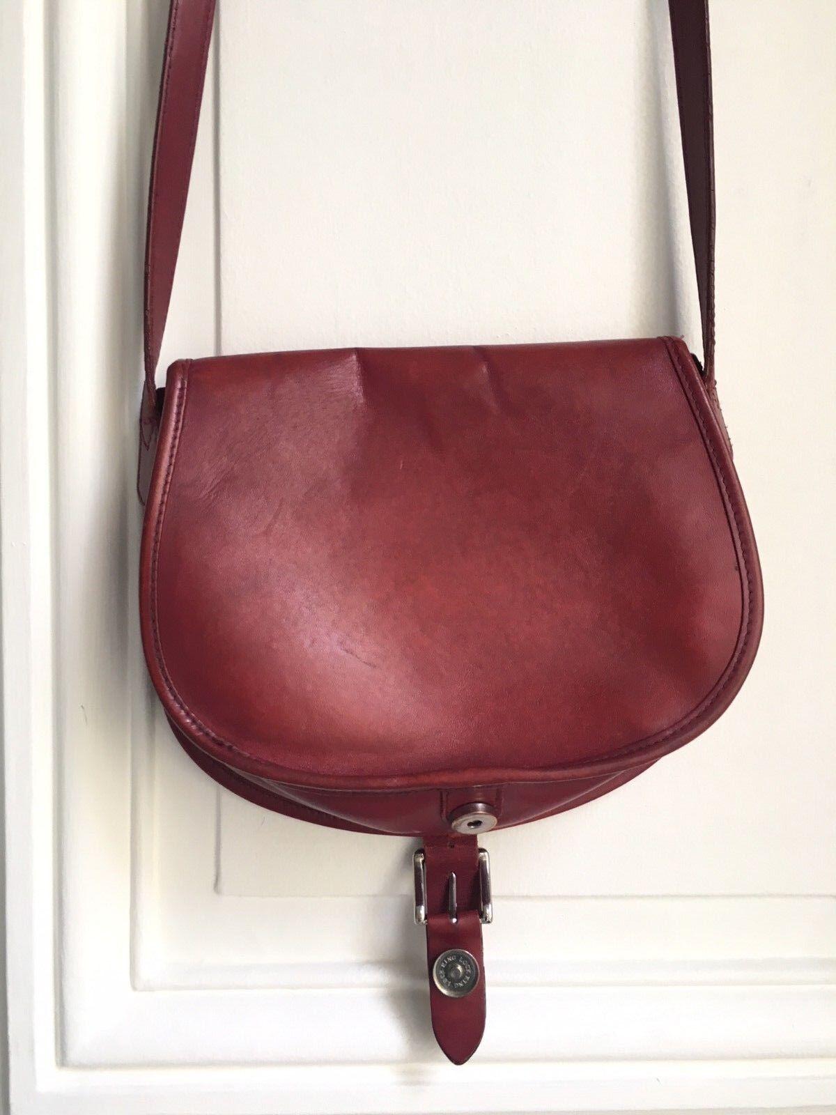 A.P.C Burgundy Red Leather Shoulder Bag - Half mo… - image 4