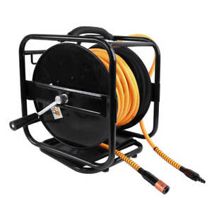 DuraDrive-Multi-Purpose-Manual-Hose-Reel-w-1-4-034-x-100-039-Hybrid-Polymer-Air-Hose
