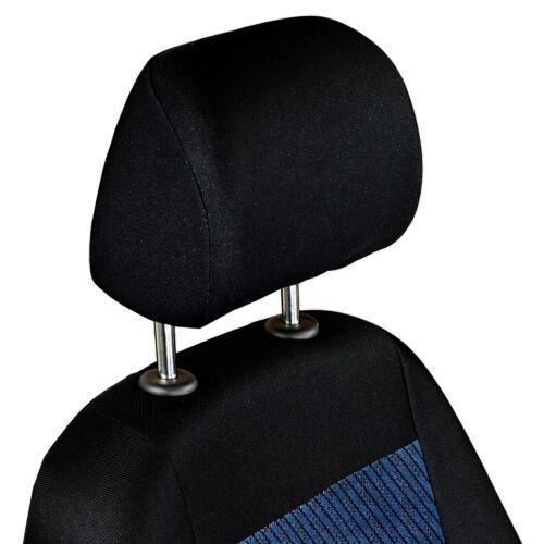 Noir-Bleu Velour Sitzbezüge pour HYUNDAI i20 Siège-auto référence complet