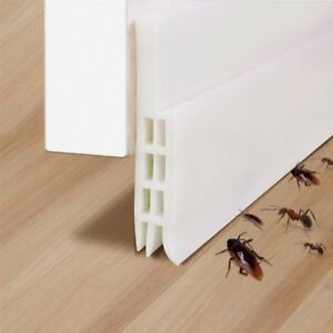 Details about Under Door Bottom Seal Weather Strip Silicone Draft Stopper  Bug Insect Stopper