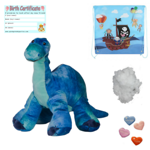 "DINOSAUR Brachiosaurus 16""/40cm BUILD YOUR OWN TEDDY BEAR MAKING KIT no sew"
