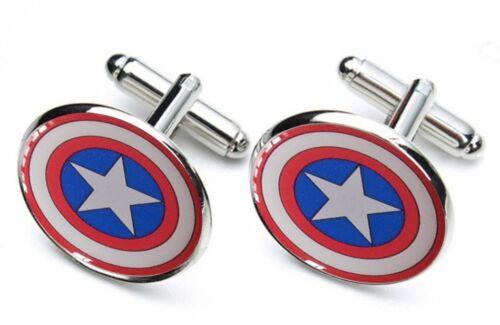 Captain America Shield Superheld Super Helden Manschettenknöpfe Neu