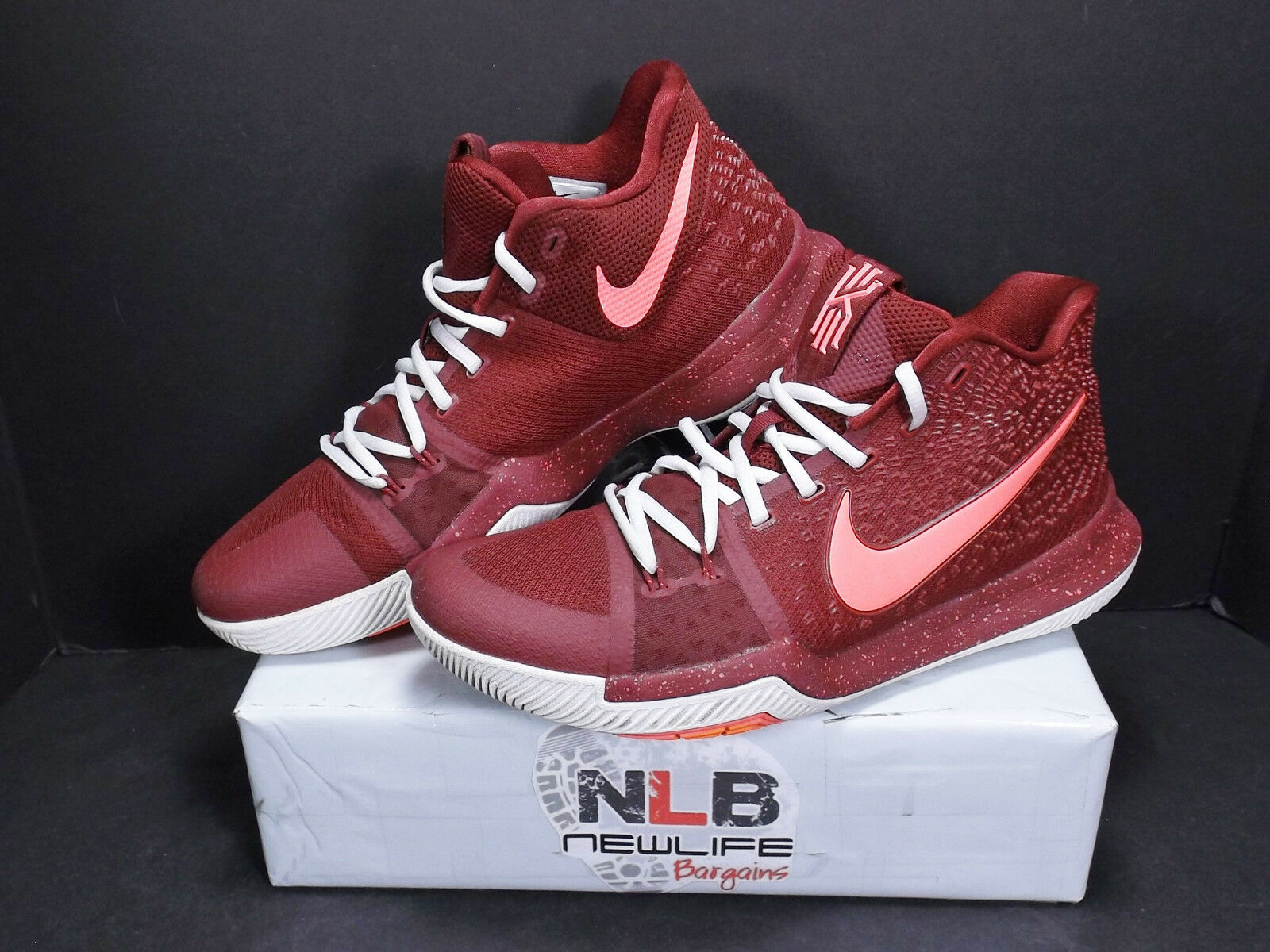 Nike Kyrie 3 Warning Team Red Hot Punch 852395-681 Men's Sz 10.5