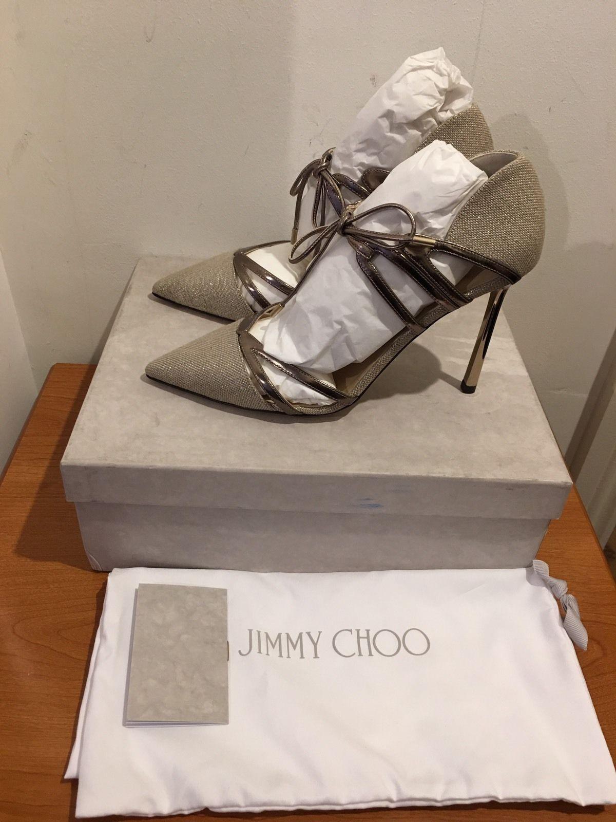 JIMMY CHOO Hime Cutout Elaphe Heels Pumps shoes