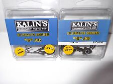 "2 pks of Kalin's Ultimate series "" S "" jigs 1/4 oz 1-5/0 pk and 1- 3/0 pk"