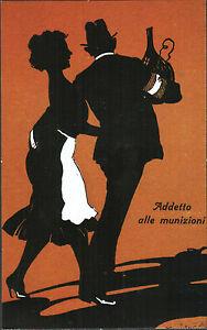 CARTOLINA-D-039-EPOCA-UMORISTICA-ADDETTO-ALLE-MUNIZIONI-1917-V-CASTELLI