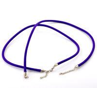 1x Nylon Halskette Halsschmuck Necklace 47cm lila