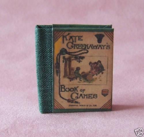 Dollshouse Libro Miniatura-Libro De Juegos