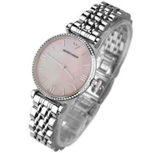 1cff9386 Details about NEW GENUINE EMPORIO ARMANI AR1779 LADIES GIANNI T-BAR SILVER  PINK WATCH UK