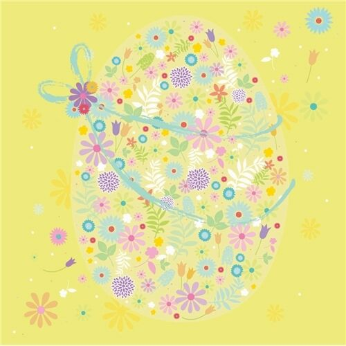 Easter 5 Card Pack Floral Egg