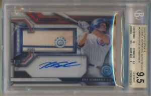2016-Topps-Strata-Kyle-Schwarber-Clearly-Authentic-Auto-Relics-BGS-9-5-Auto-10