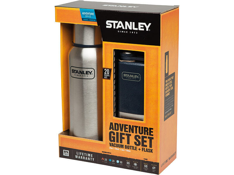 Stanley Adventure GIFT set set set vaccum Bottle, 18/8 acier, navyblaue Adventure Flask 3a8e4e