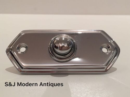 Door Bell Antique Mains Wire Vintage Push Button Chrome Victorian Brass Doorbell