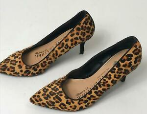 WOMEN-039-S-GEORGE-BLACK-amp-BROWN-ANIMAL-PRINT-HIGH-HEEL-SHOES-UK-5-EU-38