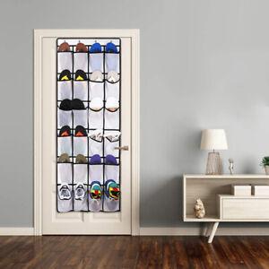 26 Pocket Over the Door Shoe Organizer Rack Hanging Storage Space Saver Hanger⭐