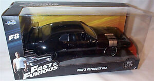 Fast-amp-Furious-Doms-Plymouth-GTX-F8-1-24-Diecast-model-Scale-New-Jada-98292