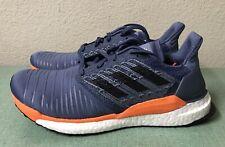 855752d57 Adidas Solar Boost Tech Ink Grey Orange Mens Sz 9 CQ3169 Ultra Running  Shoes NEW