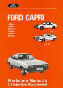 Factory Workshop Manual Ford Capri 1974-1987 Service Repair +2.8 Supplement