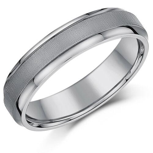 Titanium Wedding Rings Matt /& Polished Rings His /& Hers 5 /& 7mm Rings