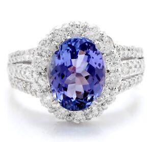 5-30-Tcw-Natural-Azul-Tanzanita-y-Diamantes-en-14K-Macizo-Blanco-Anillo-de-Oro