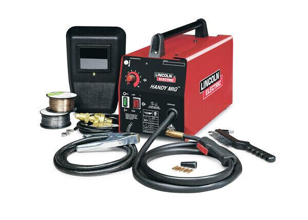 K2185-1 atli Lincoln K2185-1 Handy Mig Welder Gas or No Gas 115V 88 Amp Welds to 1/8 Steel