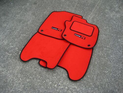 Type R Logos RED Tufted Velour Car Mats Honda Civic Type R FN2 x2 2007-12