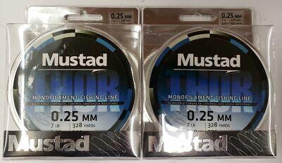 Mustad Thor Mono Fishing Line 20# Test Green 300 Meters 328 Yds VALUE BUY 2 PK