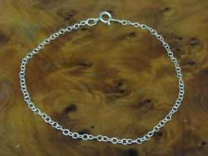 925-Sterling-Silver-Ankle-Chain-Real-Silver-18-0-cm-0-7g
