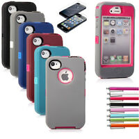 For Apple iPhone 4 4S Case Hybrid Rubber Rugged  Matte Hard Shockproof Cover New