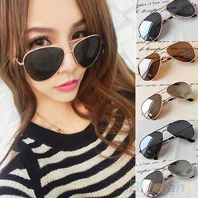 Unisex New Classic Silver Mirrored Lens Brown Gold Black Sunglasses BHAU
