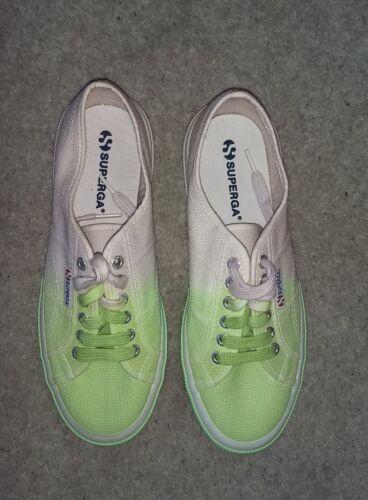 Lime Ombre Trainers Shoe 2750 amp; Size 41 Lavender donna Superga Canvas Cotu wFAqIqB