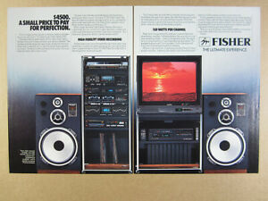 Details about 1985 Fisher 1585 Audio-Visual System rack stereo tv photo  vintage print Ad