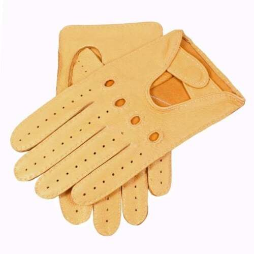 Dents Winchester Men's Deerskin Leather Driving Gloves CHAMOIS