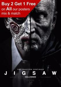 JIGSAW POSTER A4 A3 A2 A1 CINEMA MOVIE LARGE FORMAT