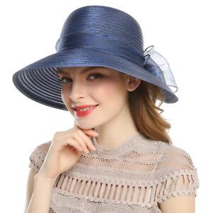 Lady-Womens-Derby-Dress-Church-Cloche-Sun-Hat-Bow-Bucket-Wedding-Bowler-Caps