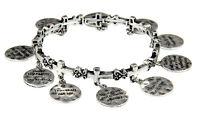 4030261 10 Commandments Charm Stretch Bracelet Link Ten Scripture Verse Bible on Sale