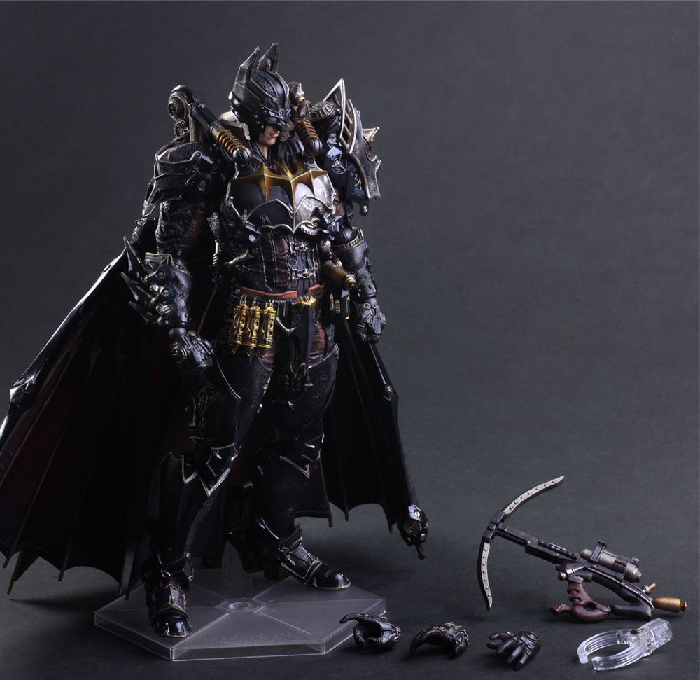 Play Arts Kai Steampunk Batman Timeless Action Figure Toy Doll Nuovo No Box
