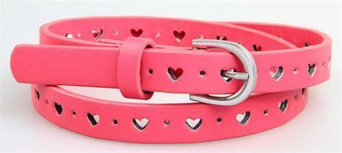 Children Belt Pink Waist Solid Waistband Black Kids Strap Buckle Adjustable New