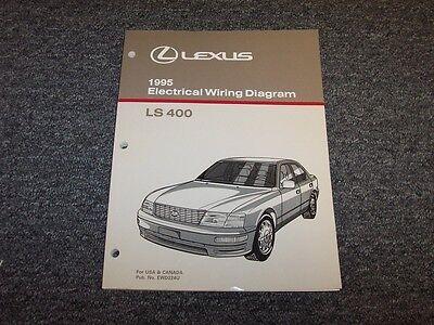 1995 Lexus Ls400 Sedan Factory Original Electrical Wiring Diagram Manual 4 0l V8 Ebay