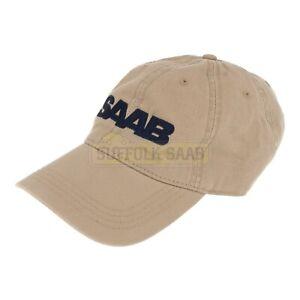 SAAB-GENUINE-6-PANEL-BASEBALL-CAP-HAT-KHAKI-BRAND-NEW-RARE-SUFFOLK-GIFT-PRESENT