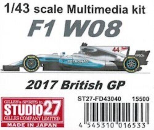Studio27 1 43 F1 W08 2017 British GP Multi Material Kit FD43040