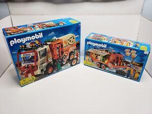 Rare-Playmobil-Dakar-Offroad-Rally-Ralle-Truck-amp-Trailer-Set-4420-4422-Germany