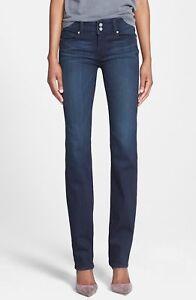 Paige-Hidden-Hills-Straight-Leg-Women-039-s-Stretch-Jeans-Dark-Wash-Sz-25x26-EUC-C0
