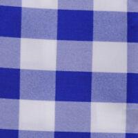 Royal Blue & White Checkered Tablecloth - 60 X 126 - Checker Pattern Tablecloths
