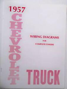 1957 Chevy truck Wiring Diagram manual | eBay