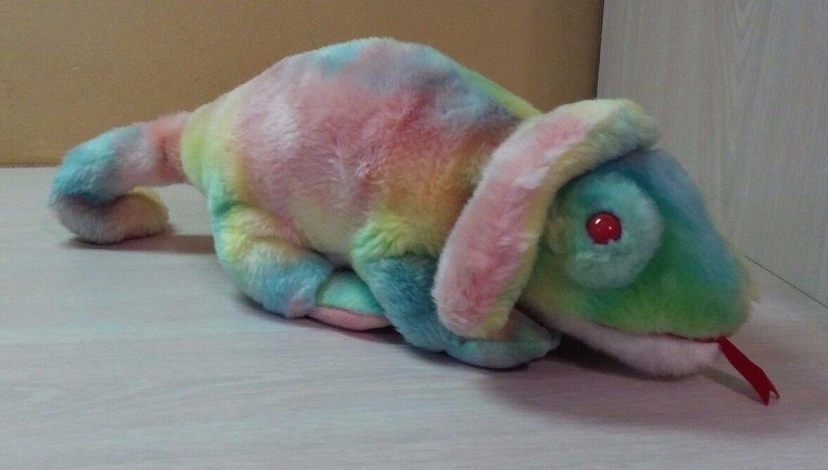 1999 Ty Beanie Buddies Original Lizard Rainbow Retired Rare Plush toy NWT