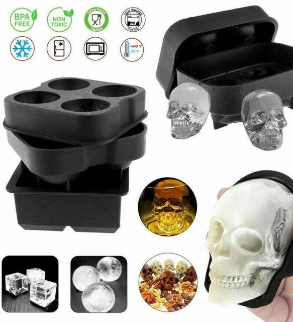 Silicone 3D Skull//Diamond  Ice Cube Tray Maker