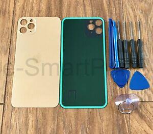 COPERCHIO-della-batteria-Vetro-ricambio-per-IPHONE-11-PRO-MAX-GRANDE-FORO-della-macchina-fotografica