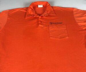 Illinois-Department-Of-Transportation-Polo-Shirt-VTG-Mens-XL-Pocket-USA-Made