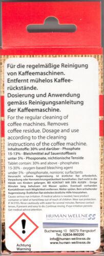 100 x pastiglie per la pulizia per il caffè pieno distributori automatici caffè MACCHINE ESPRESSO Tabs